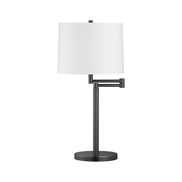 Metro II Bronze Swing Arm Table Lamp