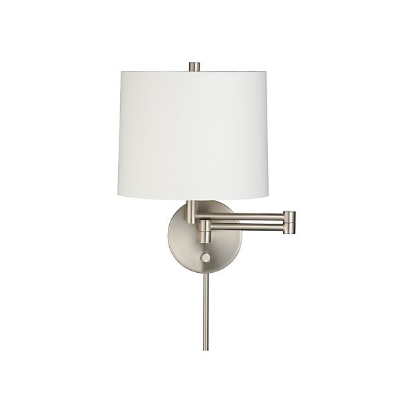 Metro II Nickel Swing Arm Wall Sconce