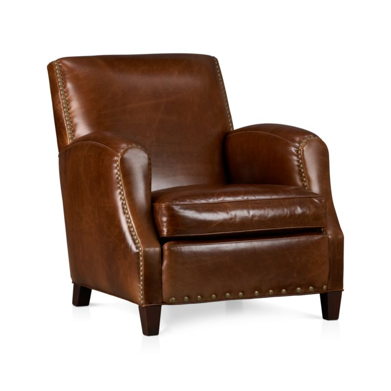 Metropole Leather Chair Vintage Crate And Barrel