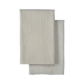 Microfiber Waffle Dish Towels Set of Two