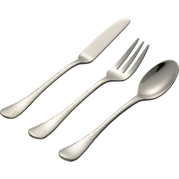 Midi Spreader and Appetizer Fork and Demi Spoon
