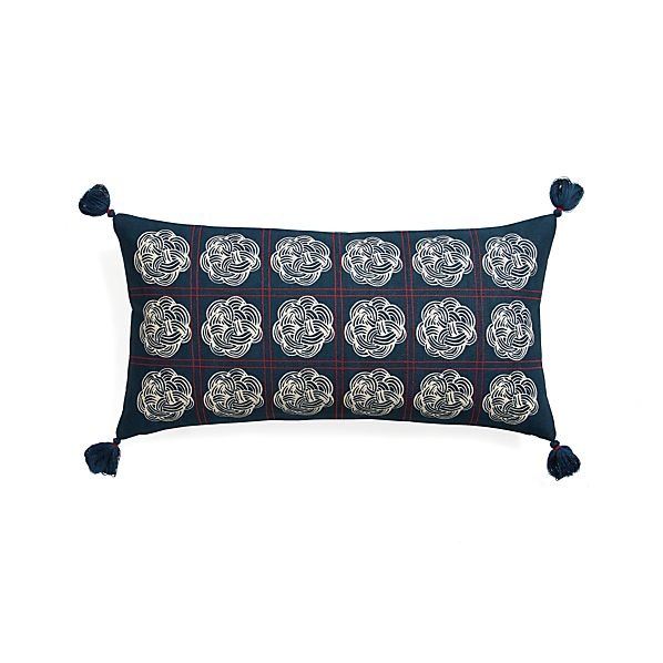 "Miku 24""x12"" Pillow with Feather-Down Insert"
