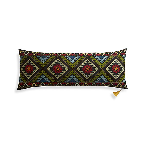"""Mila 36""""x14"""" Pillow with Feather-Down Insert"""