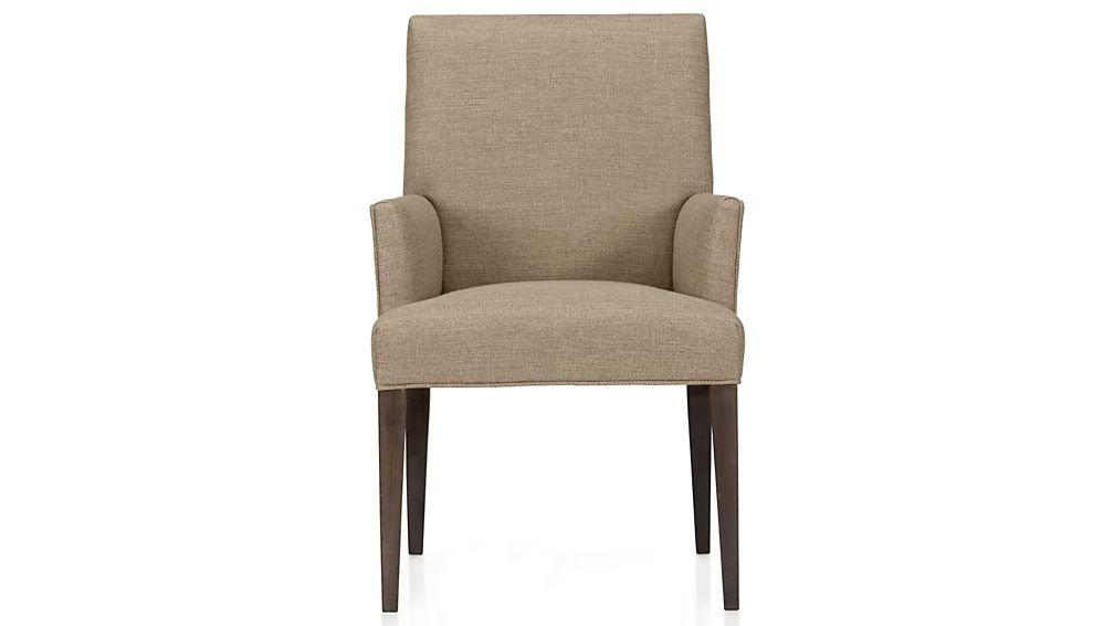 Upholstered Arm Chair Comfortable Dining Chair With Arms