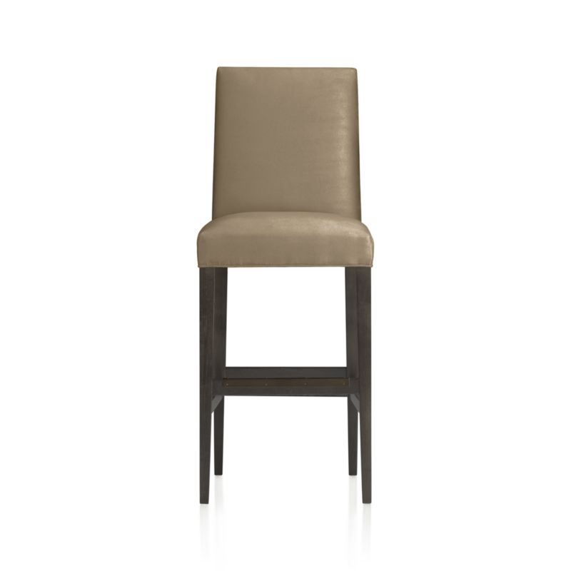 "Miles pulls up to the counter or bar as a fresh new classic with polished proportions and casual formality. Padded seat sits atop gracefully tapered hardwood legs.<br /><br />After you place your order, we will send a fabric swatch via next day air for your final approval. We will contact you to verify both your receipt and approval of the fabric swatch before finalizing your order.<br /><br /><NEWTAG/><ul><li>Certified-sustainable solid hardwood frame</li><li>Soy- or plant-based polyfiber cushion</li><li>Solid maple legs with a flannel finish</li><li>Plastic glides</li><li>30""H seat sized for bars</li><li>Made in North Carolina, USA</li></ul>"