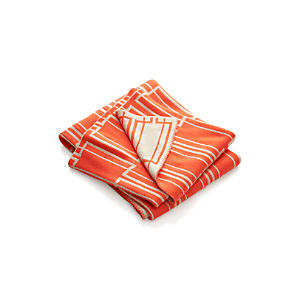Miles Orange Throw
