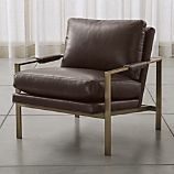 Milo Classic Leather-Bronze Lounge Chair
