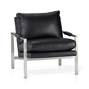 Milo Classic Leather Lounge Chair