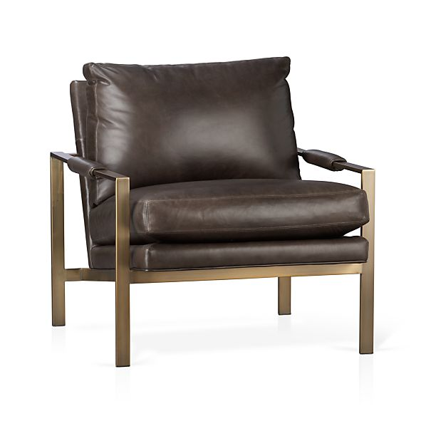 Milo Classic Leather Bronze Lounge Chair