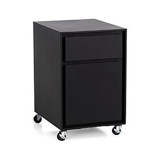 Milton Black Filing Cabinet
