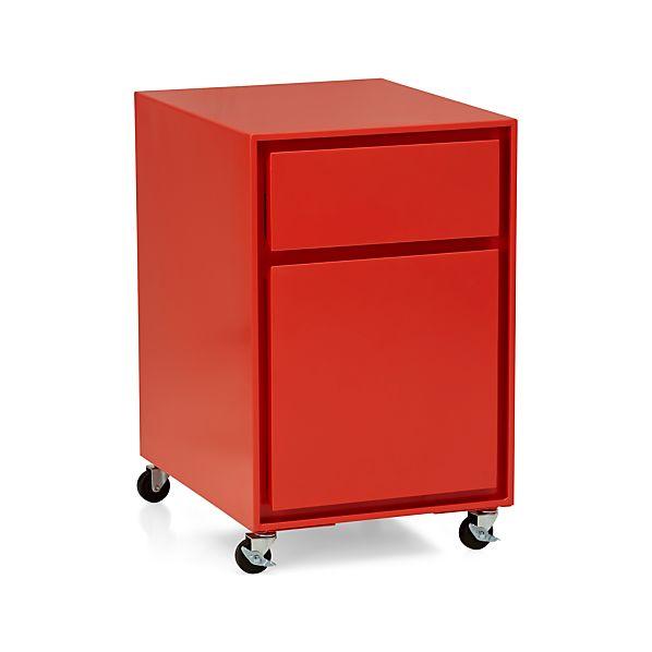 Milton Paprika Filing Cabinet