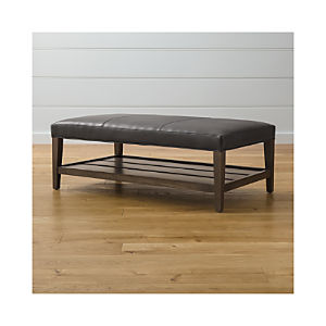 Milton Leather Rectangular Ottoman