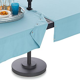 Mineral Blue Umbrella Tablecloth