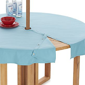 "Mineral Blue 60"" Round Umbrella Tablecloth"