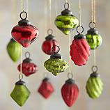 Set of 12 Red and Green Mini Ornaments