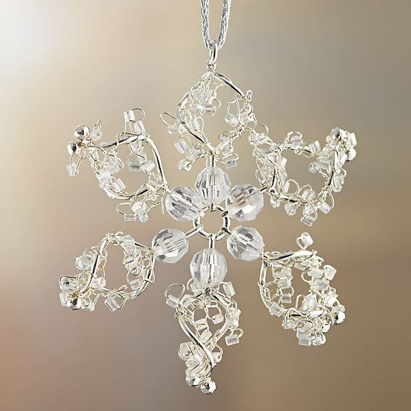 Mini Bead Snowflake With Looped Ends Ornament