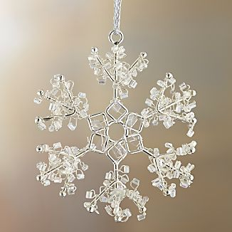 Mini Bead Snowflake With Open Ends Ornament