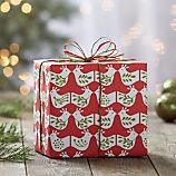 Mini Bird Red and Green Gift Wrap