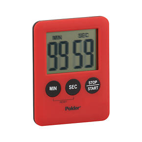 Polder® Mini Red Magnetic Timer