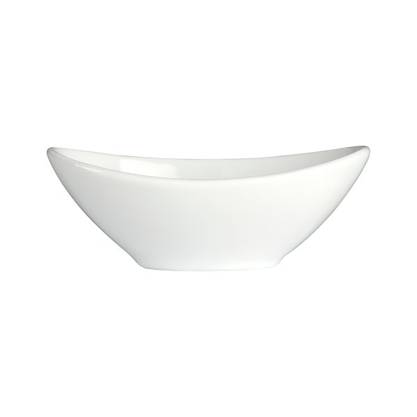 "Mini 4""x2.375"" Oval Sauce Dish"
