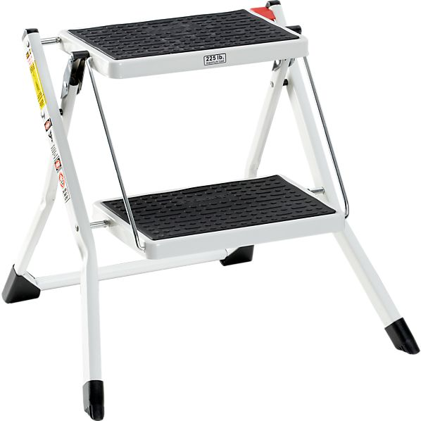 Mini White Step Stool