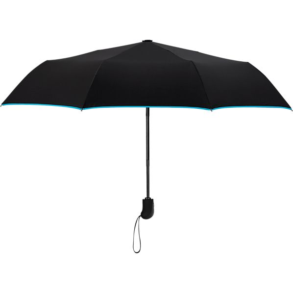 Black-Turquoise Mini Umbrella