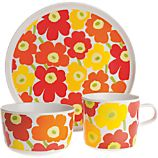 Marimekko Mini Unikko Kids 3-Piece Place Setting