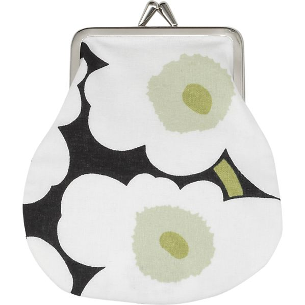 Marimekko Mini Unikko Pieni Kukkaro White Coin Purse