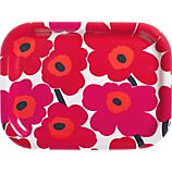 Marimekko Mini Unikko Red Tray