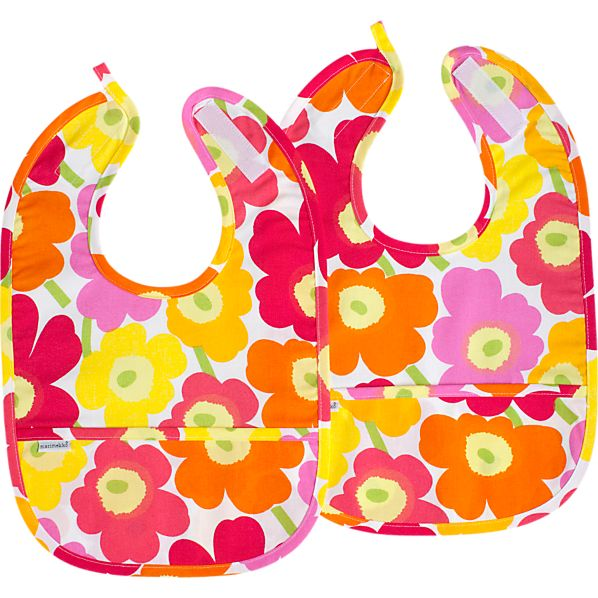 Set of 2 Marimekko Mini Unikot Bibs