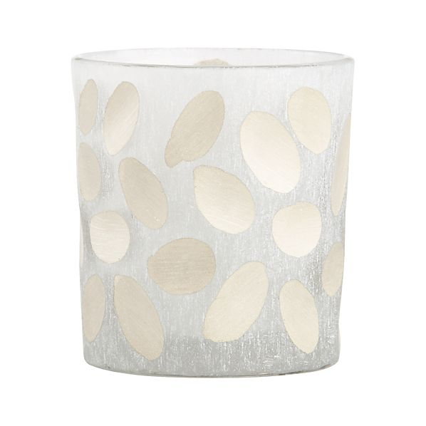 Minx Ovals Frosted Glass Votive Candle Holder