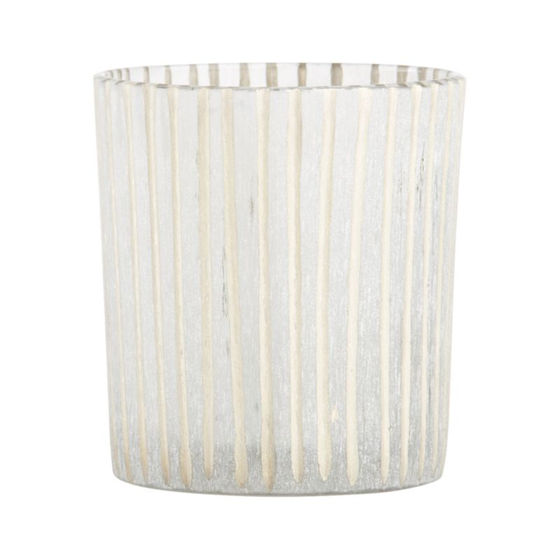 Candlelight shines soft and enchanting through handcrafted candleholders, etched with a subtle frosted texture and incised with hand-cut lines. Created in India by highly skilled artisans whose unique body of work is distinguished by intricate cutwork that imparts mesmerizing pattern and texture.<br /><br /><NEWTAG/><ul><li>Handcrafted</li><li>Glass</li><li>Wipe clean with soft, damp cloth</li><li>Accommodates up a standard votive or tealight candle, sold separately</li><li>Made in India</li></ul>