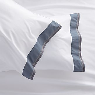 Miri Blue King Pillowcases Set of Two