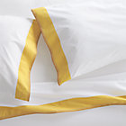Miri Yellow Queen Sheet Set.Includes one flat sheet, one fitted sheet and two standard pillowcases.