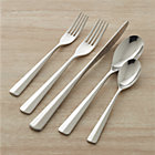 Miro 20-Piece Flatware Set: four 5-piece place settings (salad fork, dinner fork, knife, soup spoon and teaspoon).