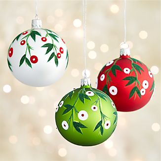 Mistletoe Ball Ornaments