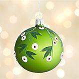 Mistletoe Green Ball Ornament