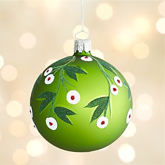 Mistletoe Green Ball Ornament