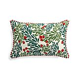 Mistletoe 20x13 Pillow with Feather-Down Insert