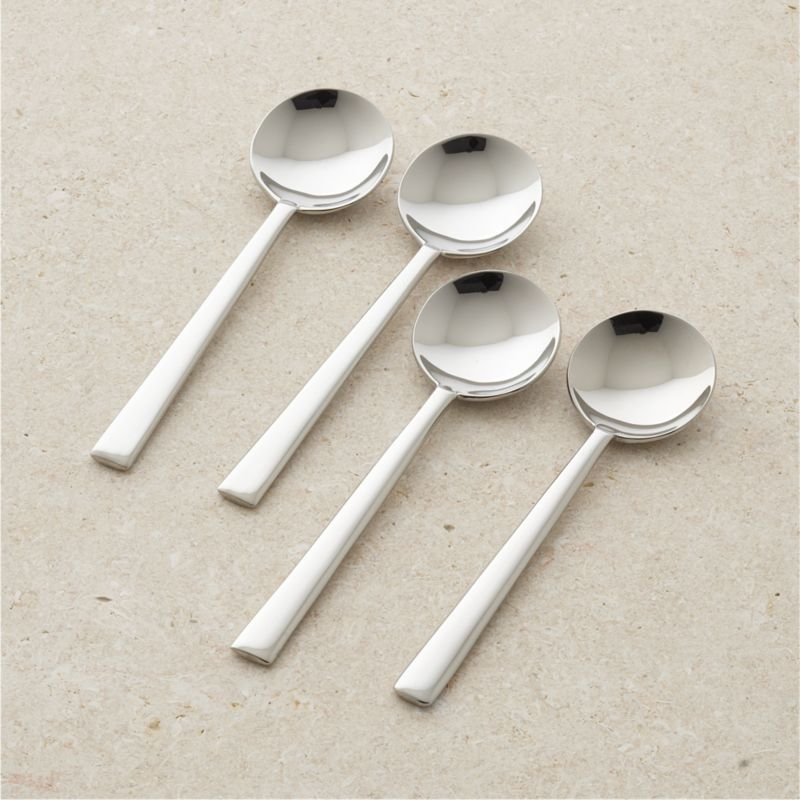 Set Of 4 Mix Soup Spoons Crate And Barrel