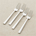 Set of four Mix salad forks. 7.5""