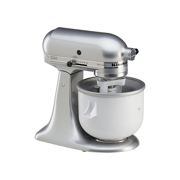Kitchenaid Stand Mixer Ice Cream Maker Attachment Crate And Barrel