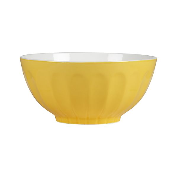 Yellow & White Mixing Bowl