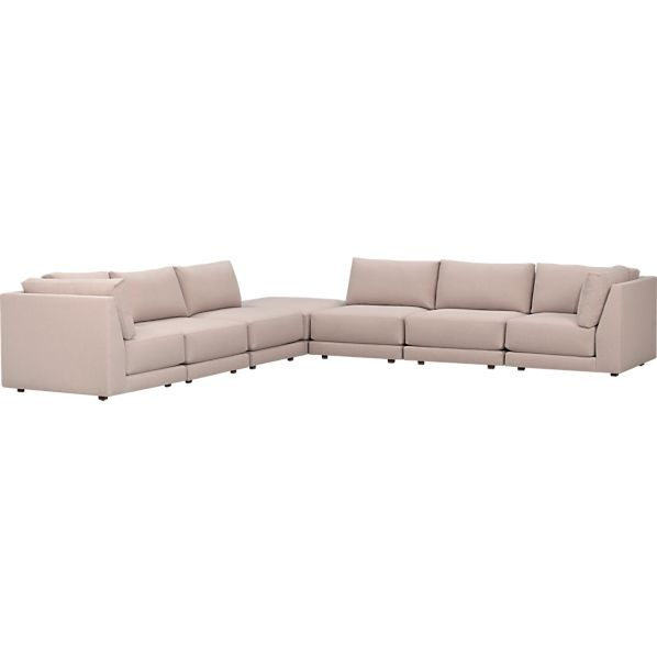 Sectional sofas sectionals crate and barrel for 7 piece sectional sofas