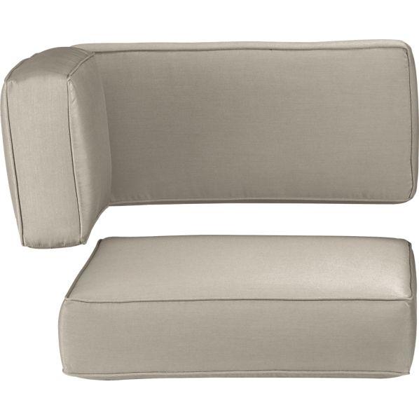 Ventura Sunbrella ® Stone Modular Corner Cushions