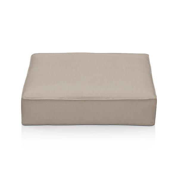 Ventura Sunbrella ® Stone Modular Ottoman Cushion