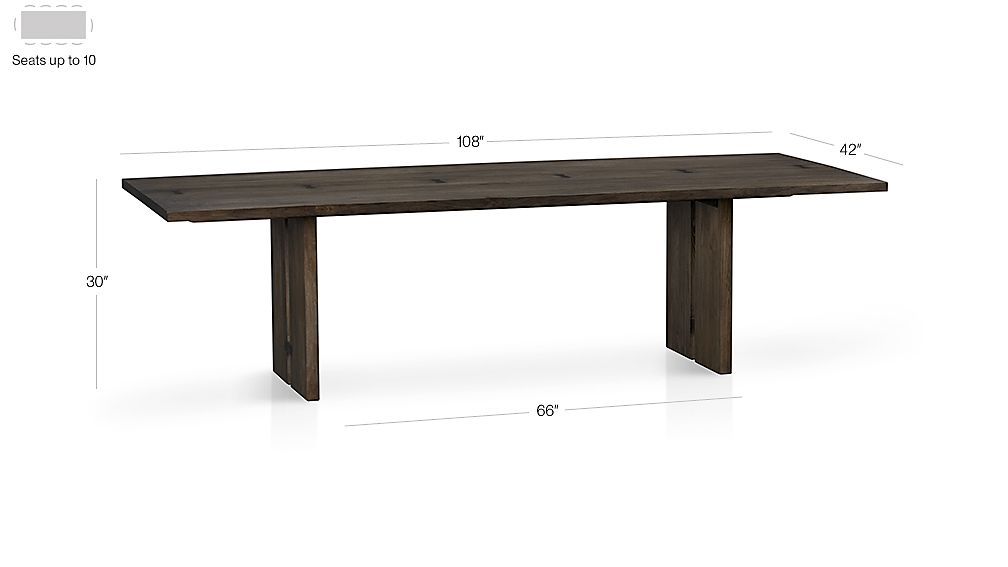 "Monarch 108"" Dining Table Dimensions"