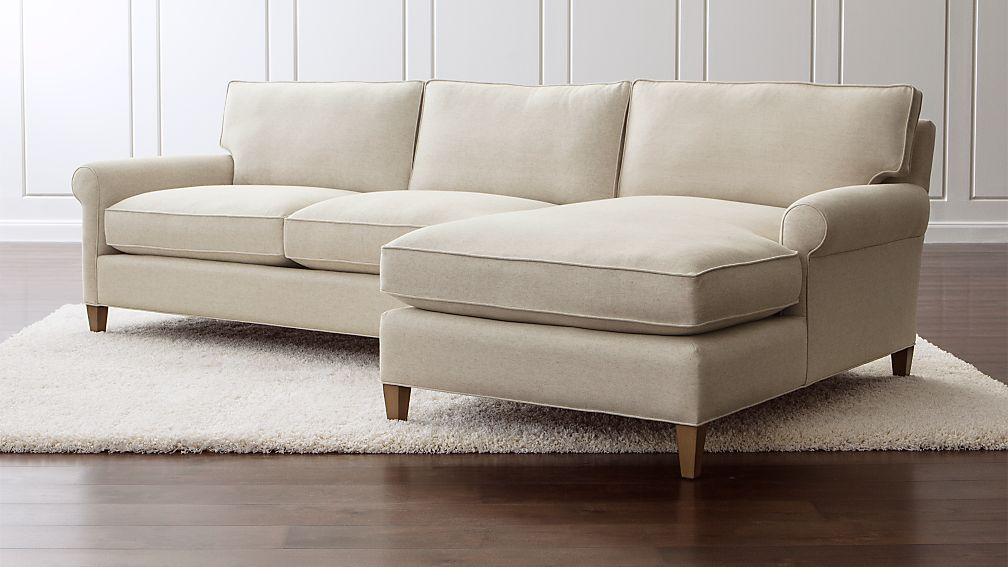 Montclair 2 Piece Sectional Sofa Natural Crate And Barrel
