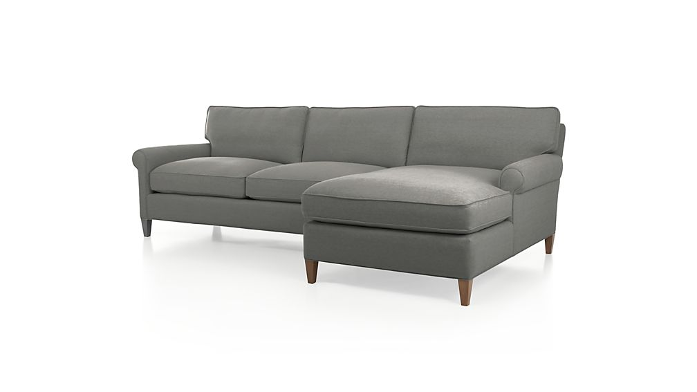 Montclair 2 Piece Sectional Sofa Nickel Crate And Barrel