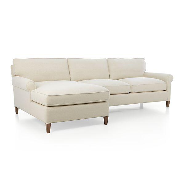 montclair 2 piece sectional sofa natural crate and barrel
